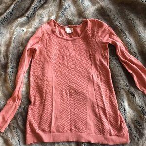 Blush colored sweater